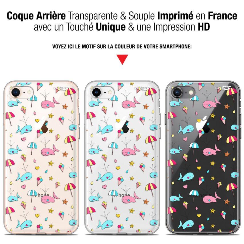 "Carcasa Gel Extra Fina Apple iPhone 7/8 (4.7"") Design Baleine à la Plage"