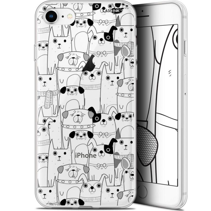 "Carcasa Gel Extra Fina Apple iPhone 7/8 (4.7"") Design Chien Noir"