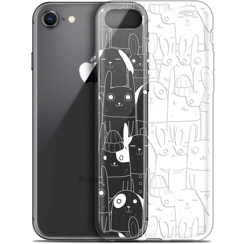 "Carcasa Gel Extra Fina Apple iPhone 7/8 (4.7"") Design Lapin Blanc"
