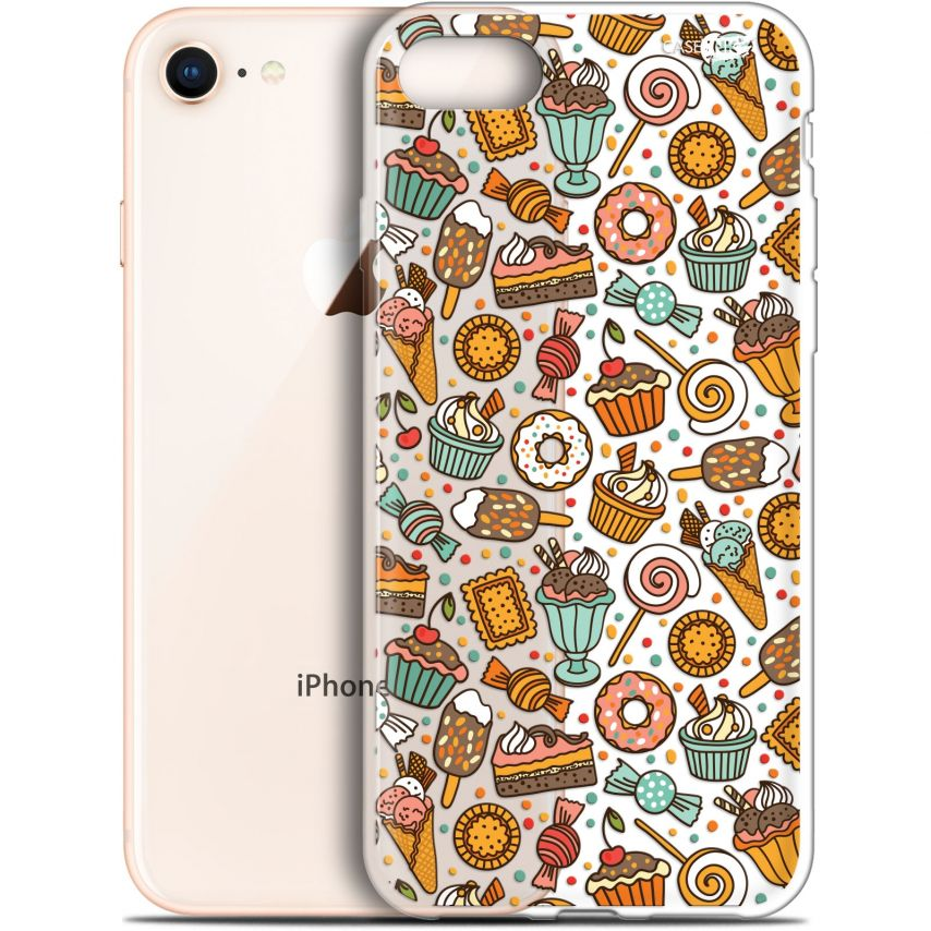 "Carcasa Gel Extra Fina Apple iPhone 7/8 (4.7"") Design Bonbons"