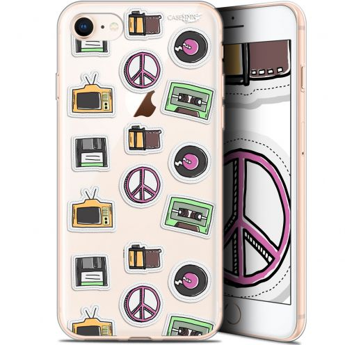 "Carcasa Gel Extra Fina Apple iPhone 7/8 (4.7"") Design Vintage Stickers"