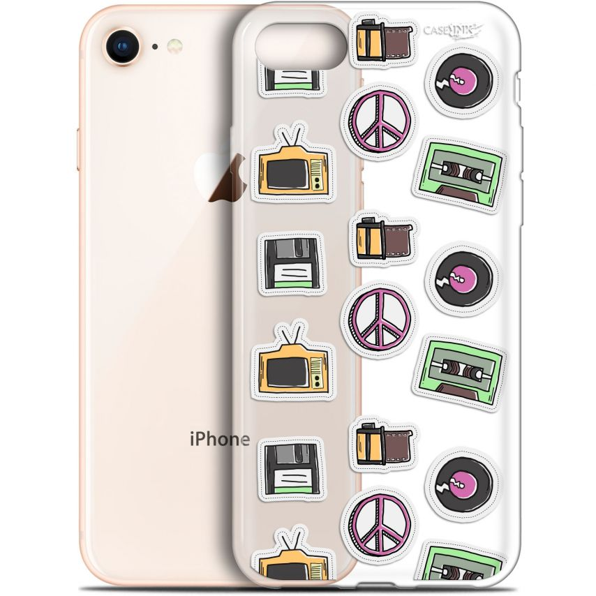 "Carcasa Gel Extra Fina Apple iPhone 7/8 (4.7"") Design Vintage Stickers"