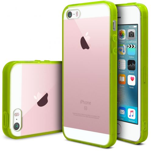 Carcasa iPhone SE/5/5S Scene Crystal Bimaterial Verde