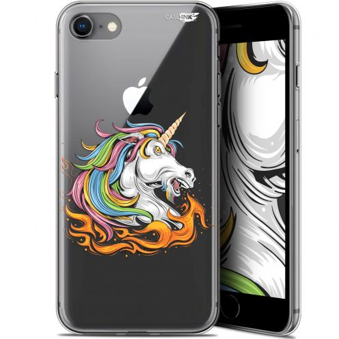 """Carcasa Gel Extra Fina Apple iPhone 7/8 (4.7"""") Design Licorne de Feu"""
