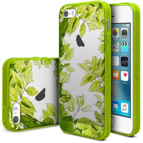 Carcasa iPhone SE/5/5S Scene Crystal Bimaterial Planta Verde