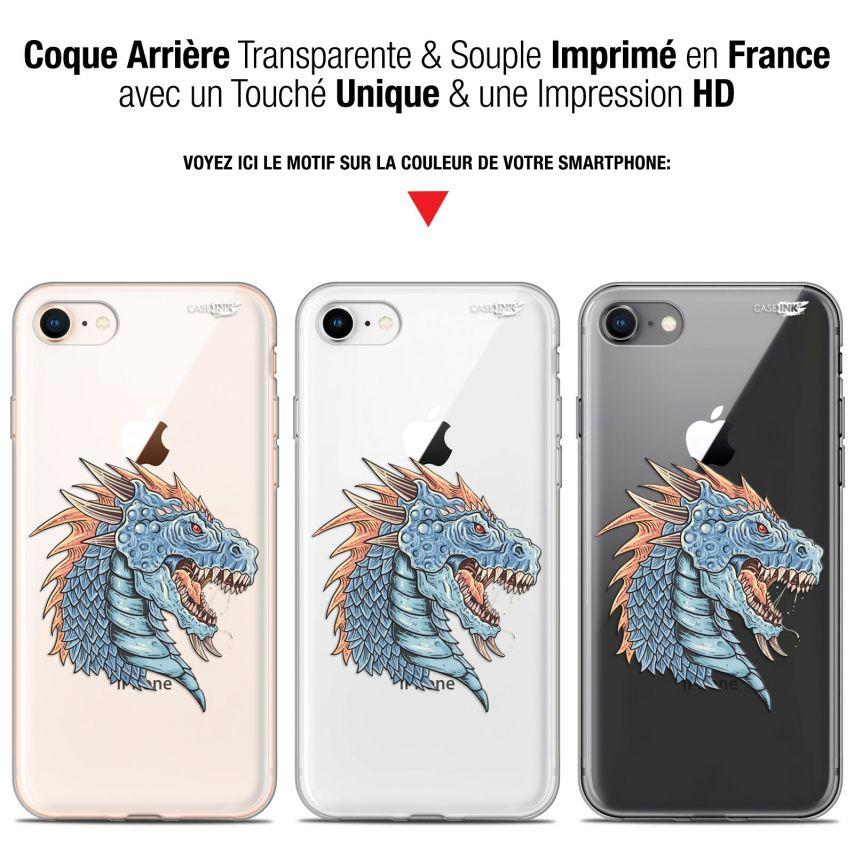 "Carcasa Gel Extra Fina Apple iPhone 7/8 (4.7"") Design Dragon Draw"