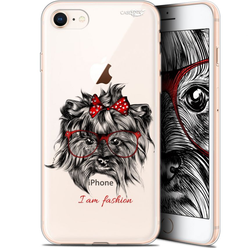 "Carcasa Gel Extra Fina Apple iPhone 7/8 (4.7"") Design Fashion Dog"