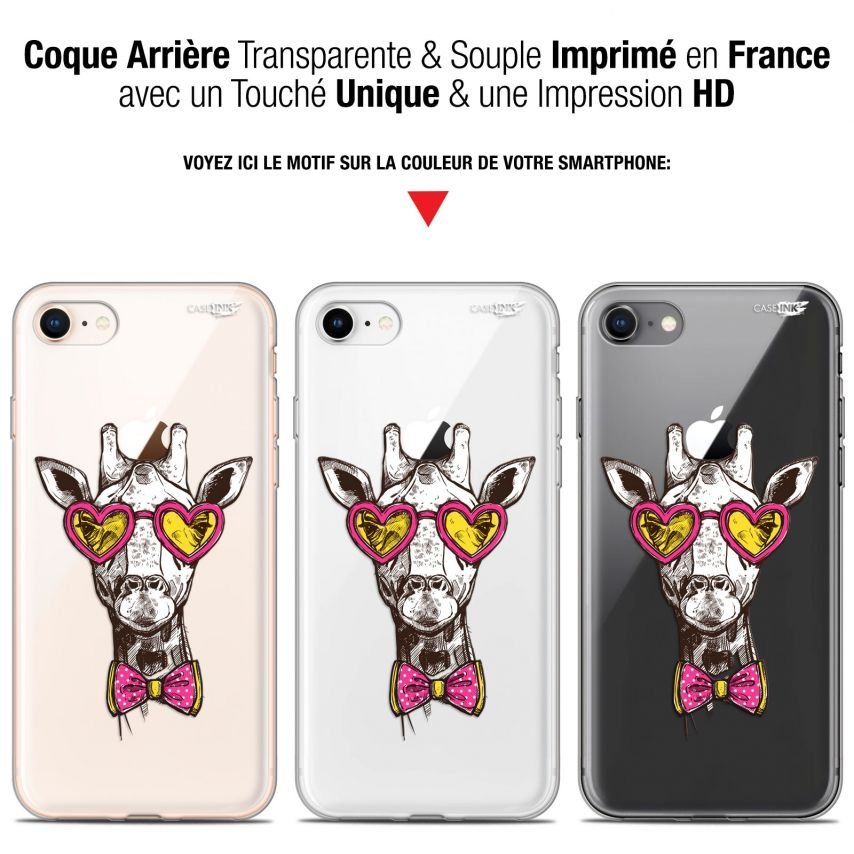"Carcasa Gel Extra Fina Apple iPhone 7/8 (4.7"") Design Hipster Giraffe"