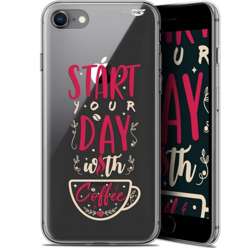 "Carcasa Gel Extra Fina Apple iPhone 7/8 (4.7"") Design Start With Coffee"