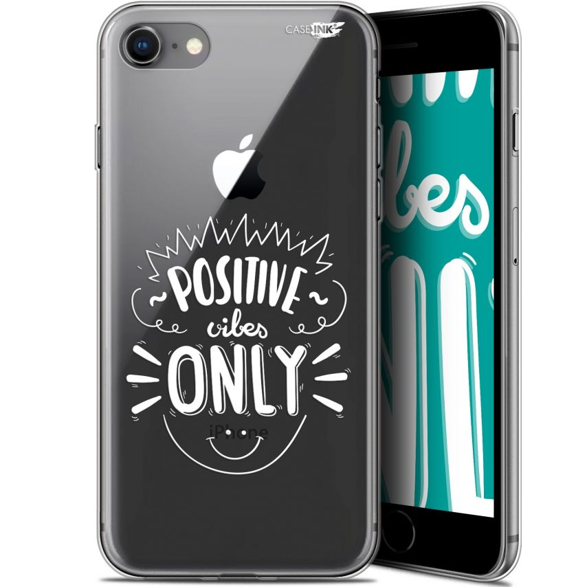"""Carcasa Gel Extra Fina Apple iPhone 7/8 (4.7"""") Design Positive Vibes Only"""