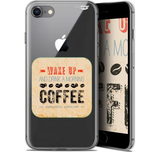 "Carcasa Gel Extra Fina Apple iPhone 7/8 (4.7"") Design Wake Up With Coffee"