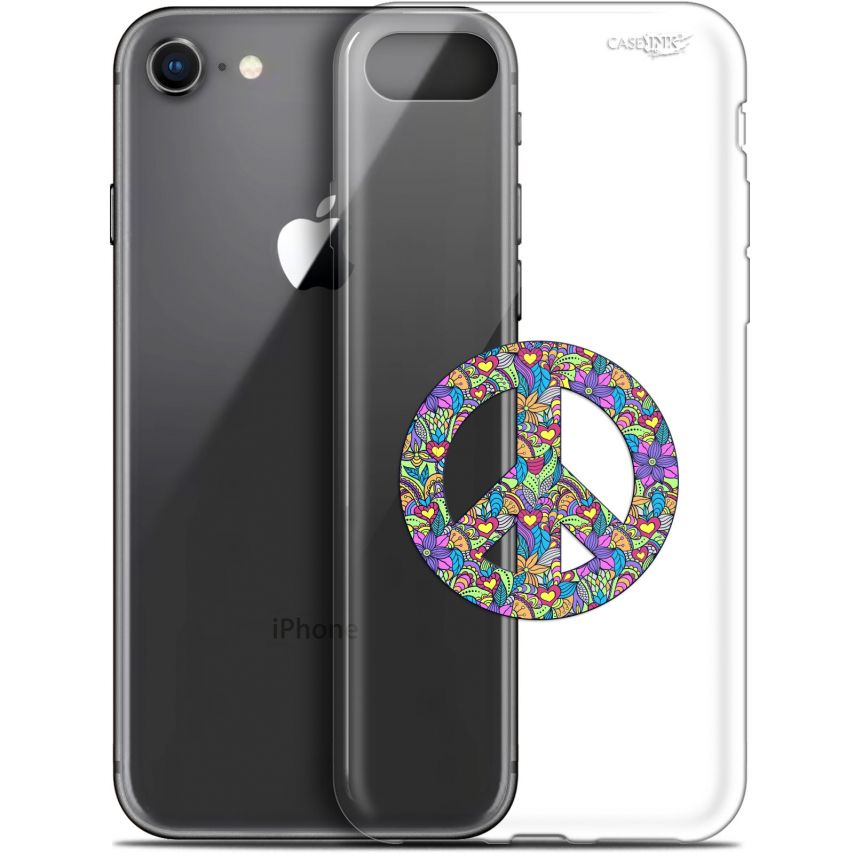 "Carcasa Gel Extra Fina Apple iPhone 7/8 (4.7"") Design Peace And Love"