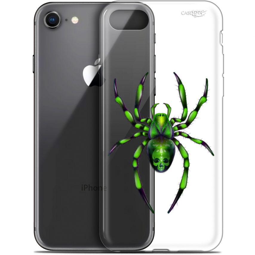 "Carcasa Gel Extra Fina Apple iPhone 7/8 (4.7"") Design Arraignée Verte"
