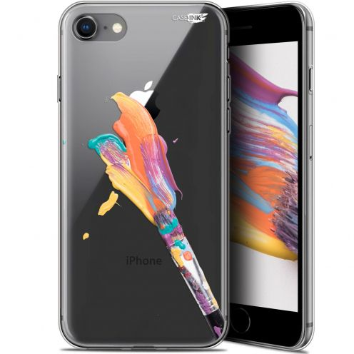 "Carcasa Gel Extra Fina Apple iPhone 7/8 (4.7"") Design Pinceau de Peinture"