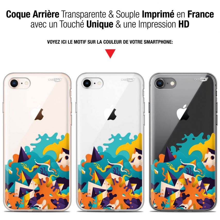 "Carcasa Gel Extra Fina Apple iPhone 7/8 (4.7"") Design Les Vagues"