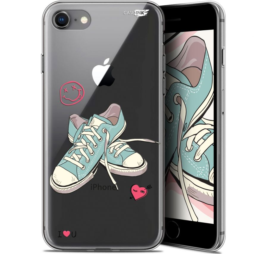 "Carcasa Gel Extra Fina Apple iPhone 7/8 (4.7"") Design Mes Sneakers d'Amour"