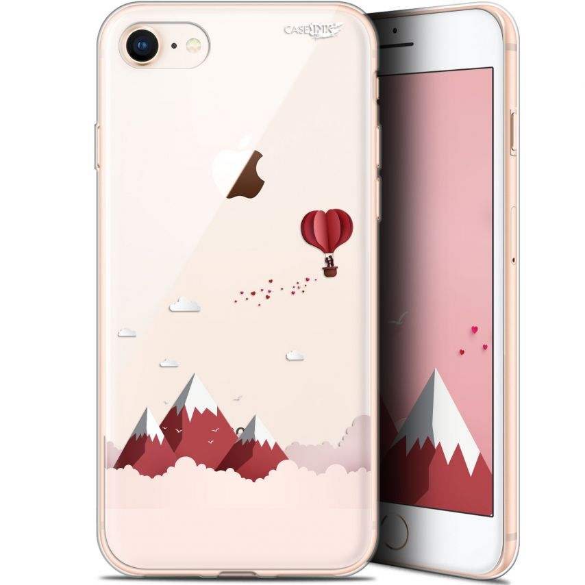 "Carcasa Gel Extra Fina Apple iPhone 7/8 (4.7"") Design Montagne En Montgolfière"