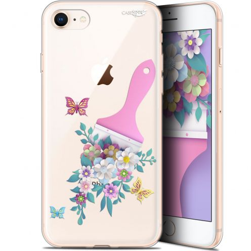 "Carcasa Gel Extra Fina Apple iPhone 7/8 (4.7"") Design Pinceau à Fleurs"