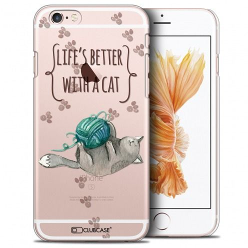 Carcasa Crystal Extra Fina iPhone 6/6s Plus (5.5) Quote Life's Better With a Cat