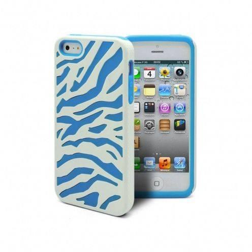 Carcasa iPhone 5 CEBRA Bi Material Azul