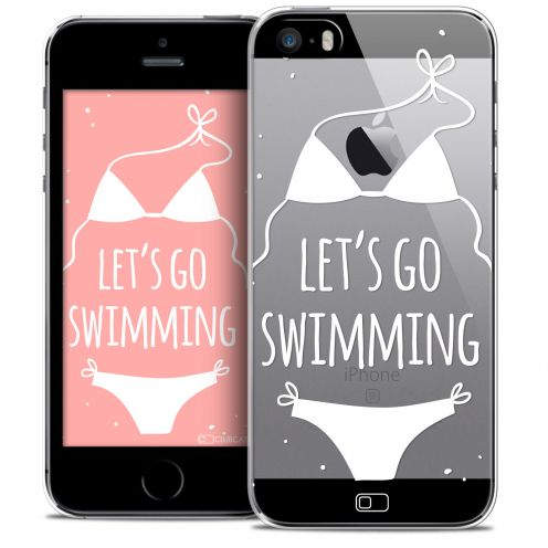 Carcasa Crystal Extra Fina iPhone SE/5/5s Summer Let's Go Swim