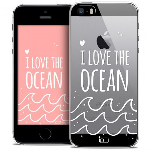 Carcasa Crystal Extra Fina iPhone SE/5/5s Summer I Love Ocean