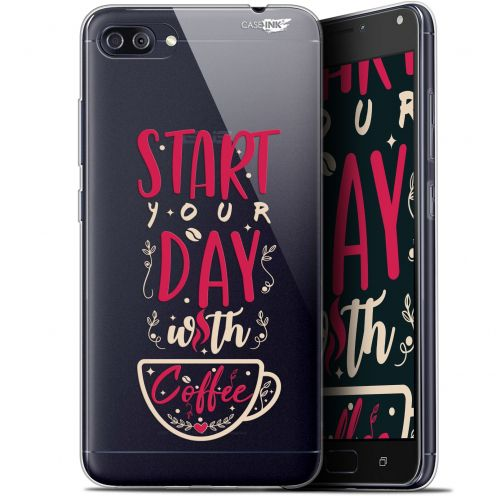 "Carcasa Gel Extra Fina Asus Zenfone 4 MAX PLUS / Pro ZC554KL (5.5"") Design Start With Coffee"