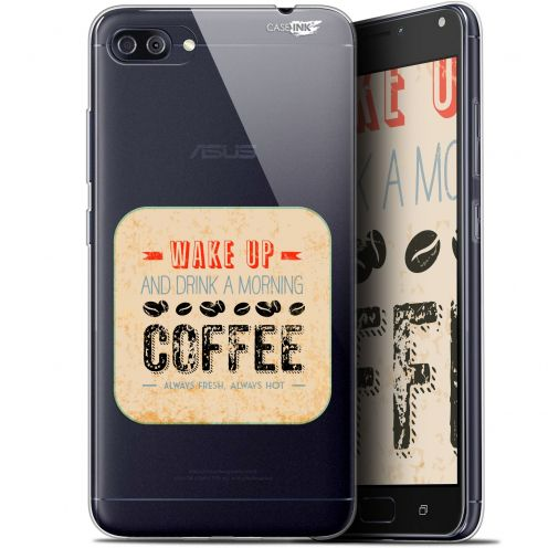 "Carcasa Gel Extra Fina Asus Zenfone 4 MAX PLUS / Pro ZC554KL (5.5"") Design Wake Up With Coffee"