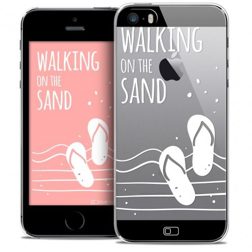 Carcasa Crystal Extra Fina iPhone SE/5/5s Summer Walking on the Sand