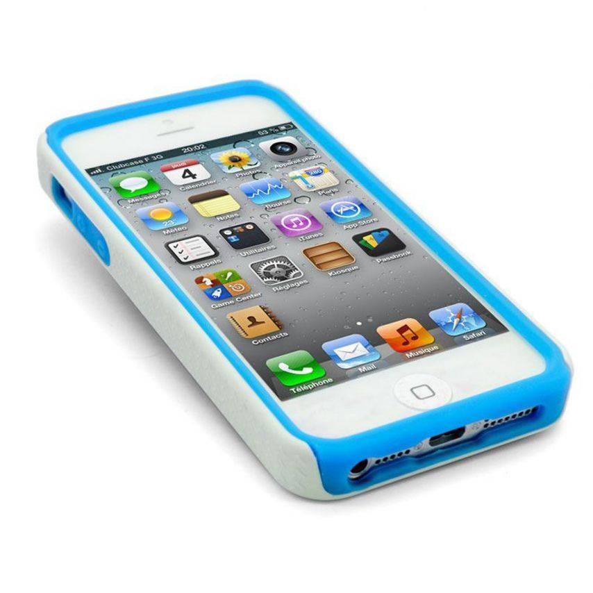 Materia de IPhone caso 5 Bi cebra azul