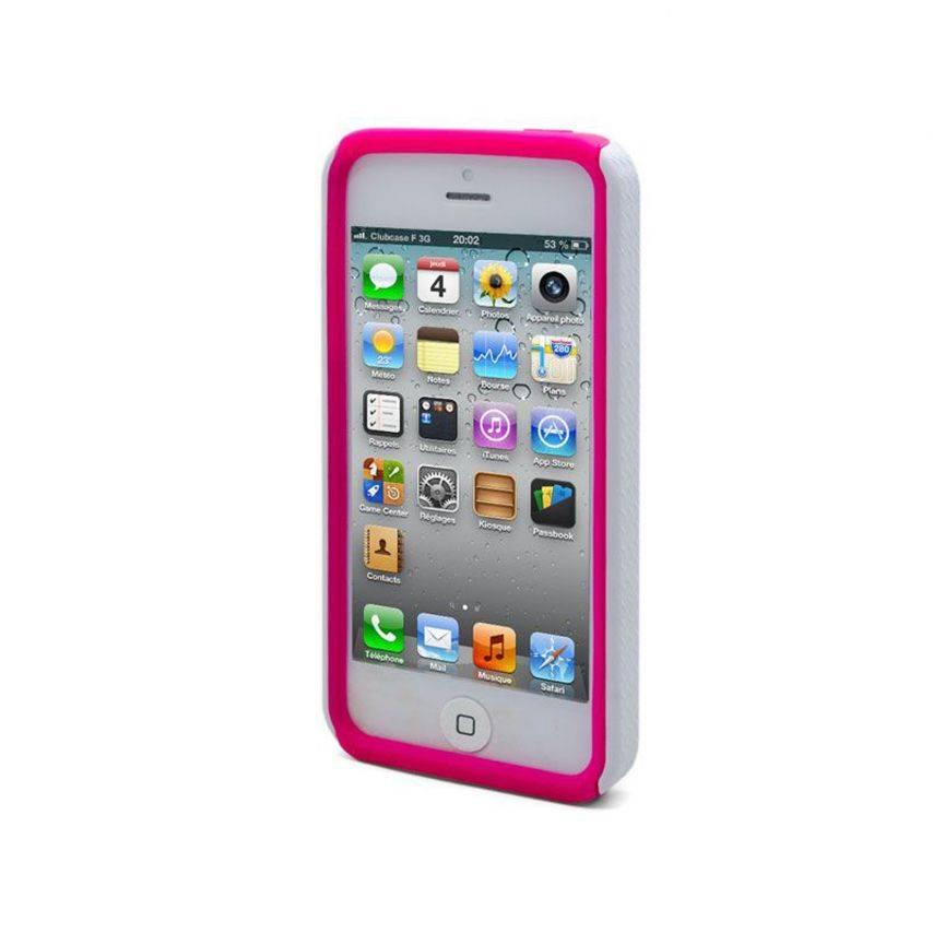 Material de Bi de IPhone 5 cebra caso Rose