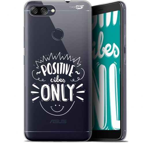 """Carcasa Gel Extra Fina Asus Zenfone Max Plus (M1) ZB570TL (5.7"""") Design Positive Vibes Only"""