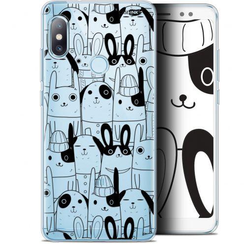 "Carcasa Gel Extra Fina Xiaomi Redmi Note 5 (5.99"") Design Lapin Noir"