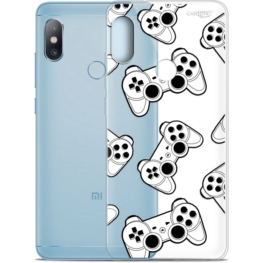"Carcasa Gel Extra Fina Xiaomi Redmi Note 5 (5.99"") Design Game Play Joysticks"