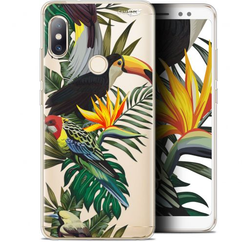 "Carcasa Gel Extra Fina Xiaomi Redmi Note 5 (5.99"") Design Toucan Tropical"