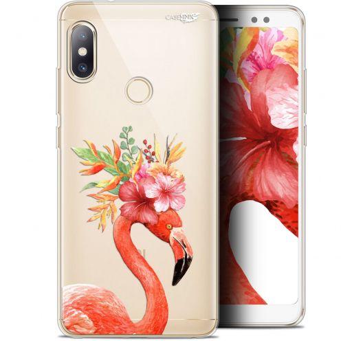 "Carcasa Gel Extra Fina Xiaomi Redmi Note 5 (5.99"") Design Flamant Rose Fleuri"