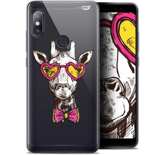 "Carcasa Gel Extra Fina Xiaomi Redmi Note 5 (5.99"") Design Hipster Giraffe"