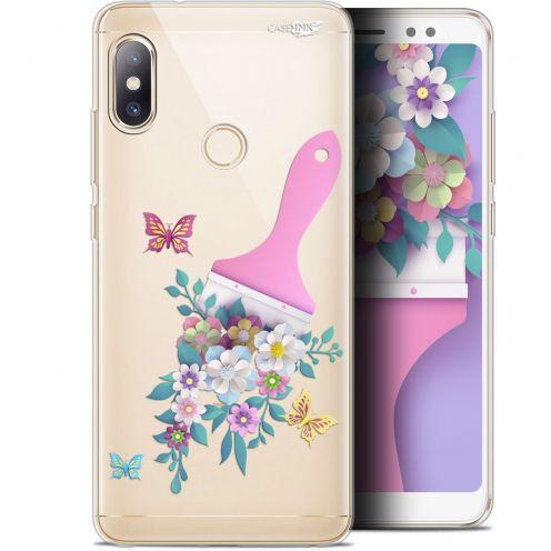 """Carcasa Gel Extra Fina Xiaomi Redmi Note 5 (5.99"""") Design Pinceau à Fleurs"""