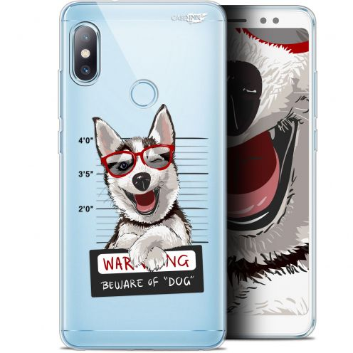 "Carcasa Gel Extra Fina Xiaomi Redmi Note 5 (5.99"") Design Beware The Husky Dog"