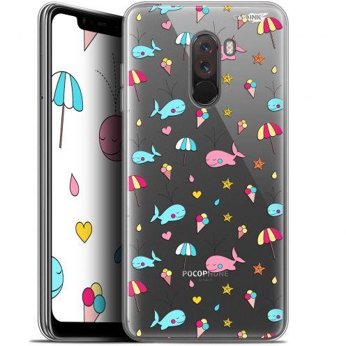"Carcasa Gel Extra Fina Xiaomi Pocophone F1 (6.18"") Design Baleine à la Plage"