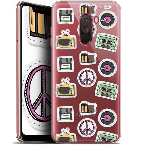 "Carcasa Gel Extra Fina Xiaomi Pocophone F1 (6.18"") Design Vintage Stickers"