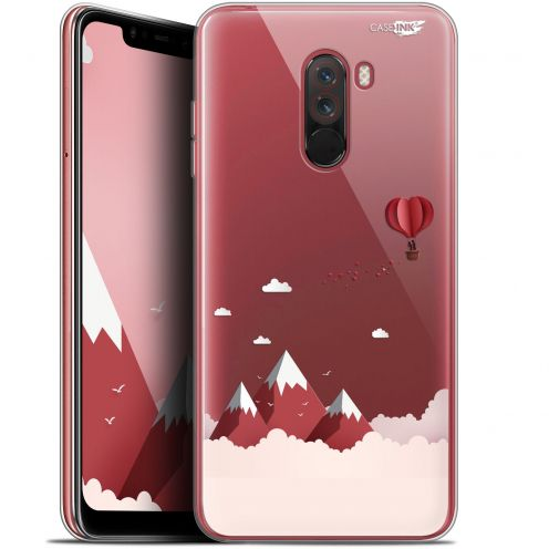 "Carcasa Gel Extra Fina Xiaomi Pocophone F1 (6.18"") Design Montagne En Montgolfière"