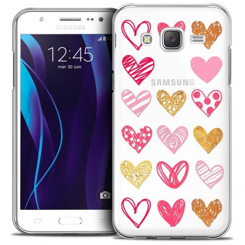 Carcasa Crystal Extra Fina Galaxy J5 (J500) Sweetie Doodling Hearts