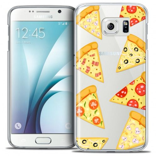Carcasa Crystal Extra Fina Galaxy S6 Foodie Pizza