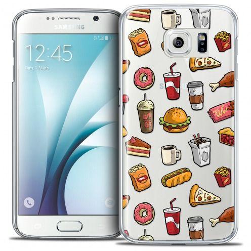 Carcasa Crystal Extra Fina Galaxy S6 Foodie Fast Food