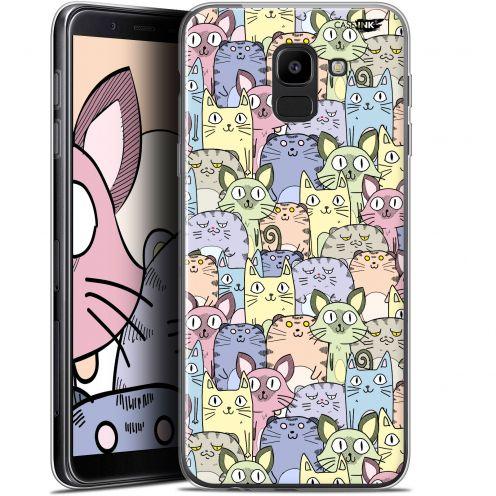 "Carcasa Gel Extra Fina Samsung Galaxy J6 2018 J600 (5.6"") Design Foule de Chats"