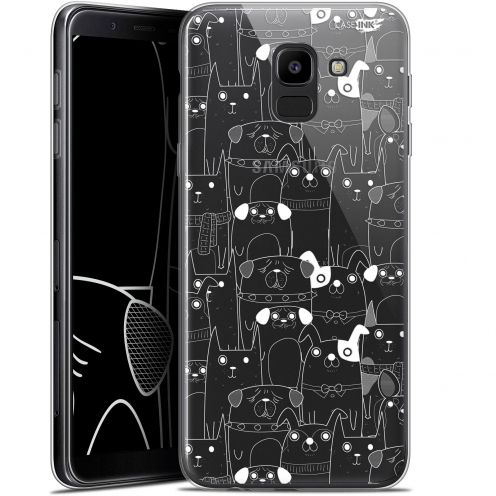 "Carcasa Gel Extra Fina Samsung Galaxy J6 2018 J600 (5.6"") Design Chien Blanc"