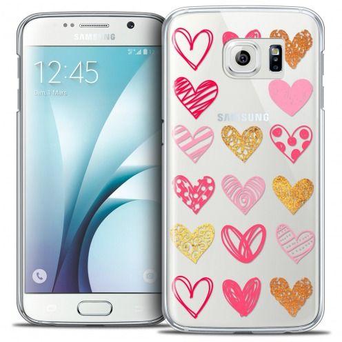 Carcasa Crystal Extra Fina Galaxy S6 Sweetie Doodling Hearts