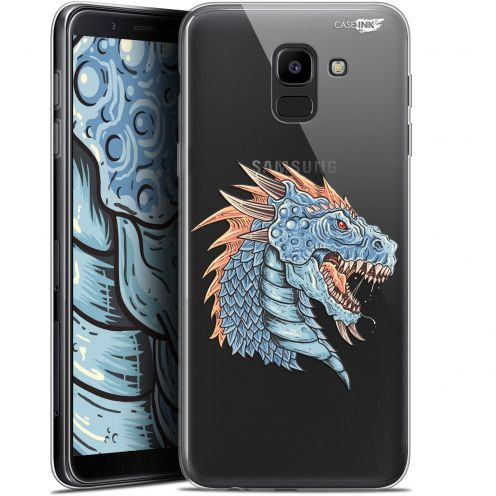 "Carcasa Gel Extra Fina Samsung Galaxy J6 2018 J600 (5.6"") Design Dragon Draw"