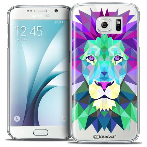 Carcasa Crystal Extra Fina Galaxy S6 Polygon Animals León